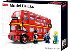 Sluban Stavebnice Londýnský dvoupodlažní autobus, 382ks