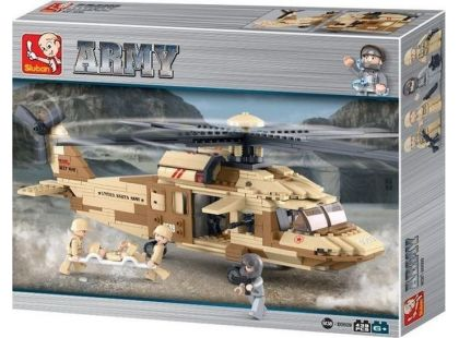 Sluban Stavebnice Vrtulník Black Hawk