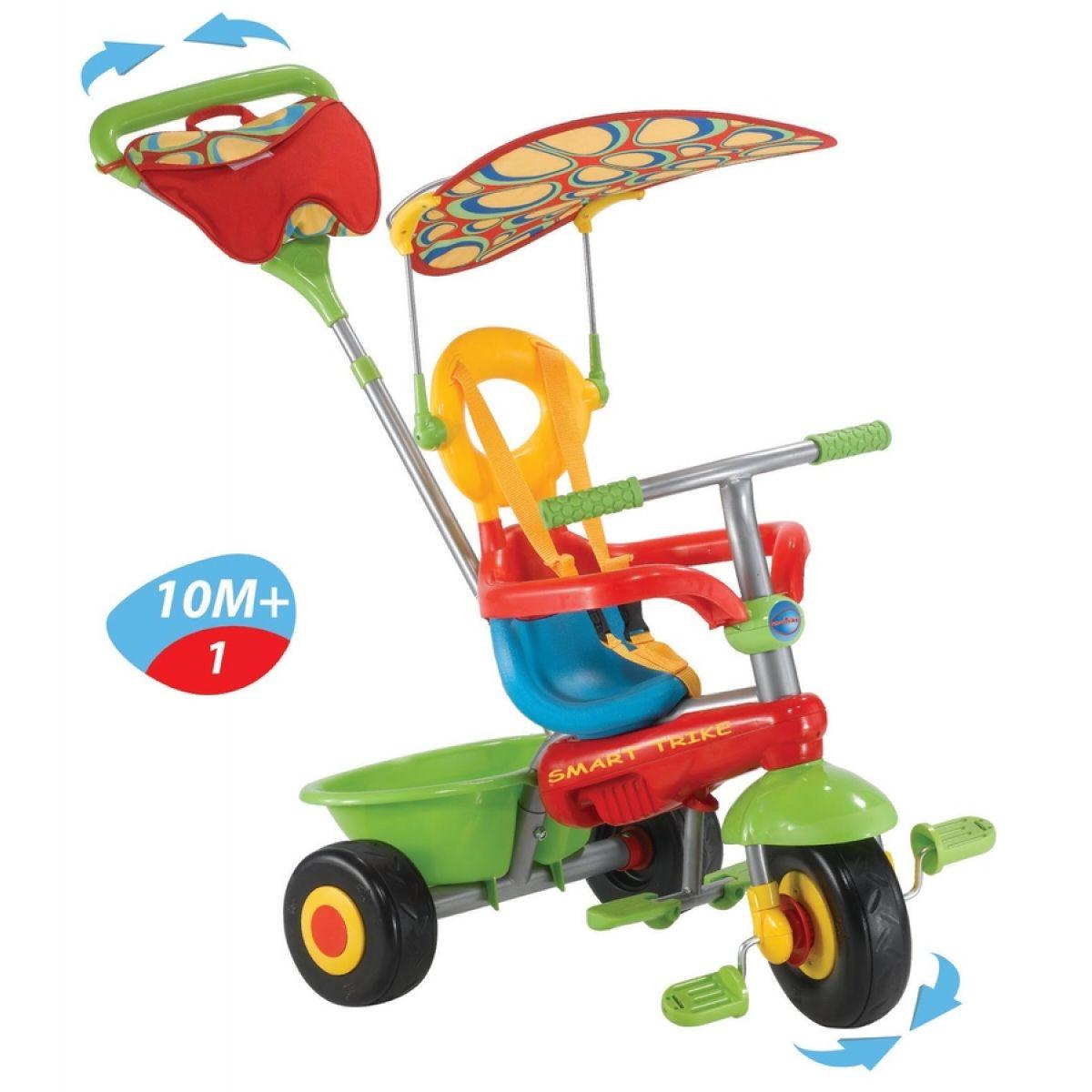 Smart Trike Tříkolka Plus Fresh červeno-zelená