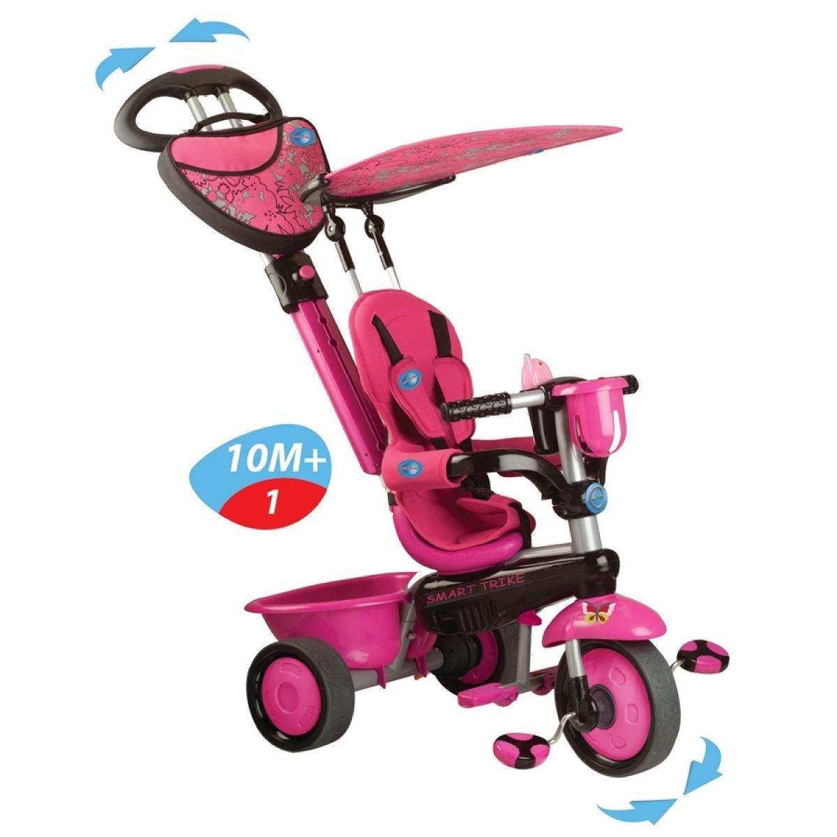 Smart Trike Tříkolka Zoo Butterfly růžová