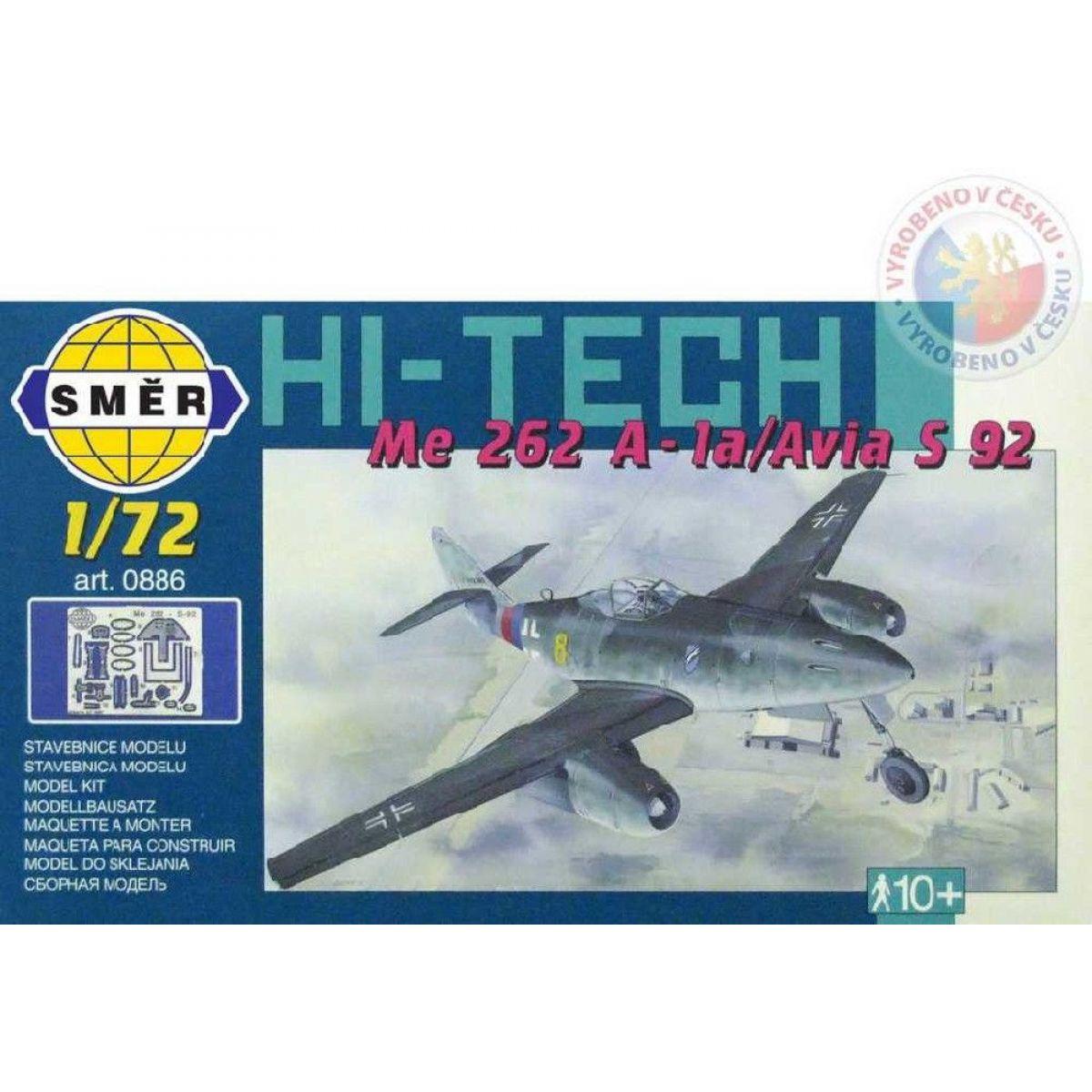 Směr Model Messerschmitt Me 262 A - la Avia S 92 HI TECH 1:72