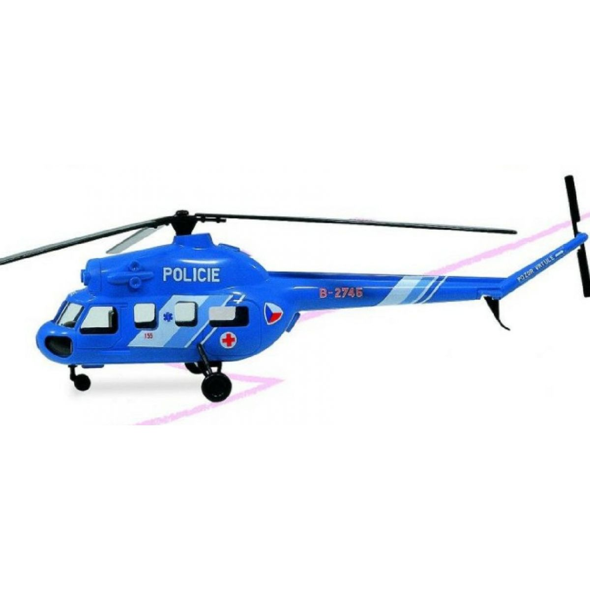 Směr Model vrtulníku 1:48 Mi2 Policie