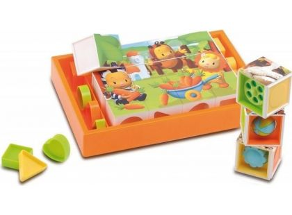 Smoby Cotoons Kostky puzzle s vkládačkou
