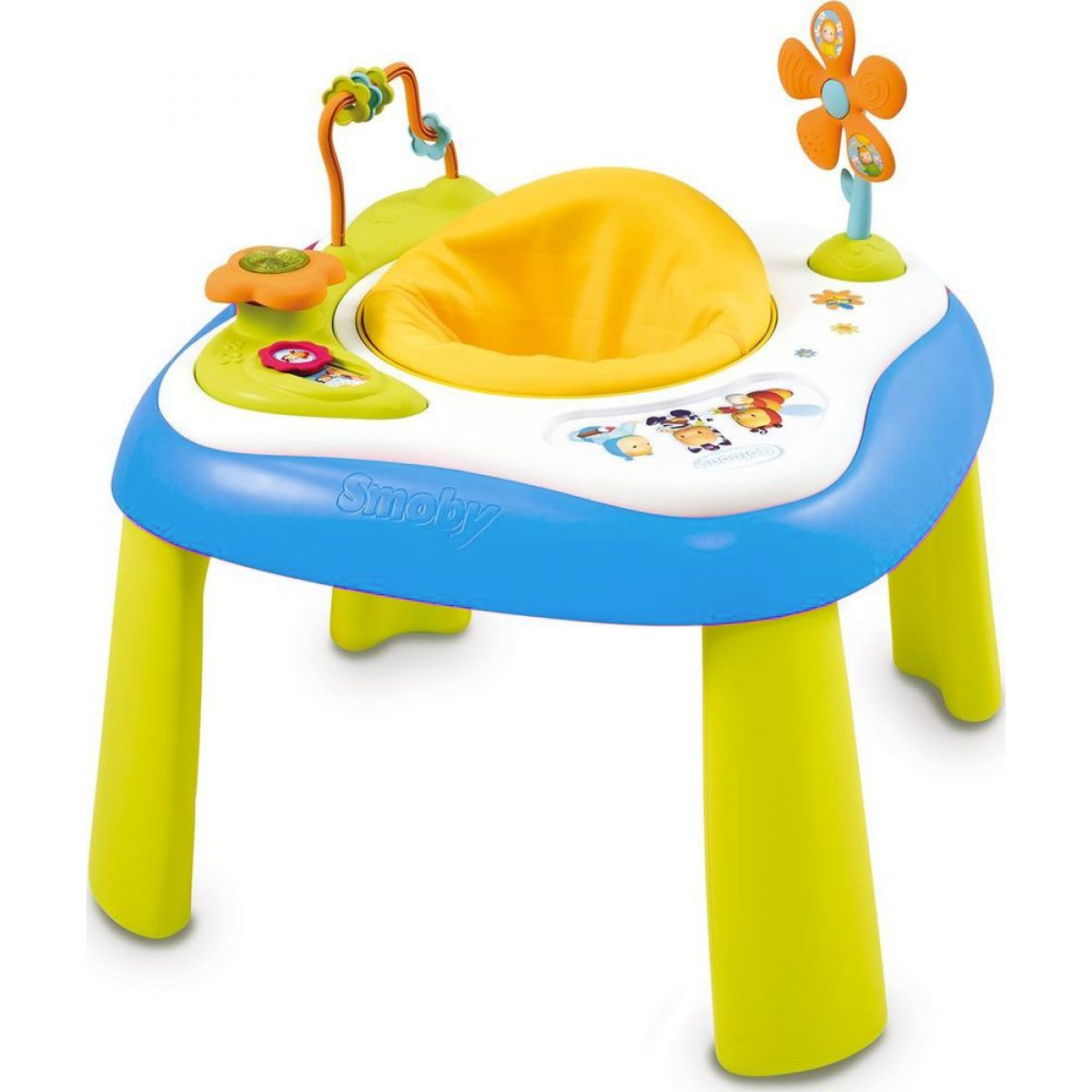 Smoby Cotoons Multifunkční hrací stůl se sedátkem - Modrý