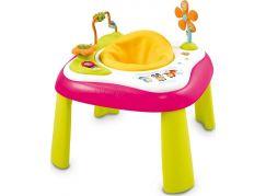 Smoby Cotoons Multifunkční hrací stůl se sedátkem - Růžový