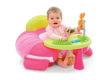Smoby Cotoons Nafukovací sedátko s aktivity stolečkem - Růžová