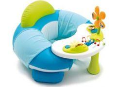 Smoby Cotoons Nafukovací sedátko s aktivity stolečkem modro-bílá