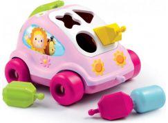 Smoby Cotoons Vkládačka autíčko - Růžové auto