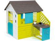Smoby Domeček Pretty modrozelený s kuchyní