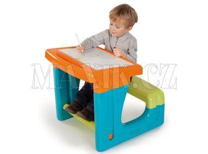 Smoby Dětský stoleček se zabudovanou lavicí