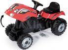Smoby Šlapací traktor Farmer XL červený s vozíkem 5