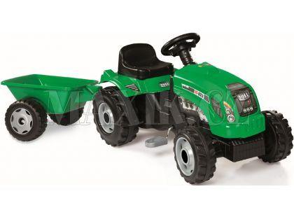 Smoby Šlapací traktor GM Bull s vlekem zelený