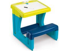 Smoby Psací stůl s lavicí modrý - Poškozený obal