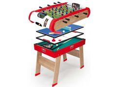 Smoby Stolní dřevěný fotbalový stůl Powerplay 4v1