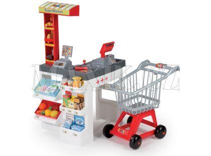 Smoby Supermarket červenobílý