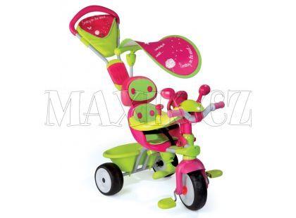 Smoby Tříkolka Baby Driver Confort zelenorůžová