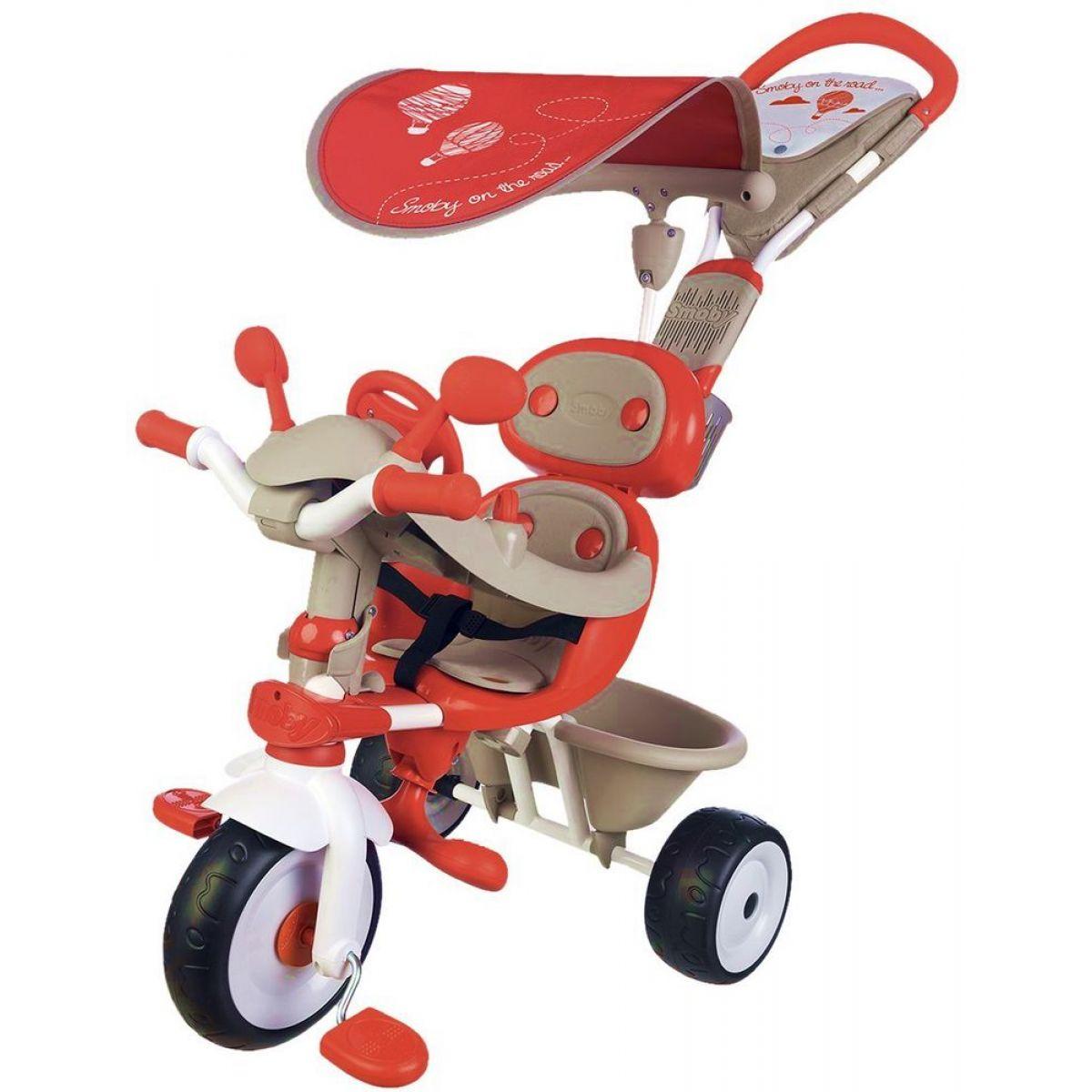 Smoby Tříkolka Baby Driver Confort červenošedá - Poškozený obal