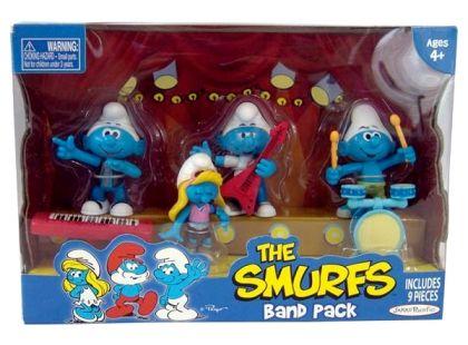 Šmoulové sada 4 figurky - Rocková kapela