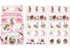 Smršťovací dekorace na vejce pohádkové 10ks a 10 stojánků