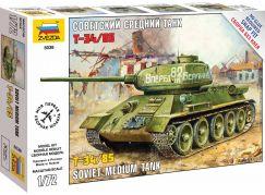 Zvezda Snap Kit tank 5039 T-34 85 1:72