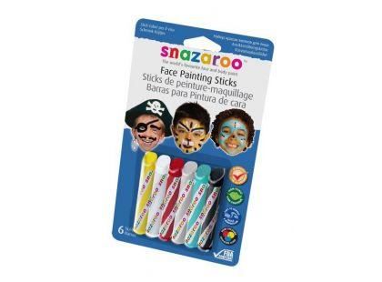 Snazaroo Tužky na obličej 6 barev