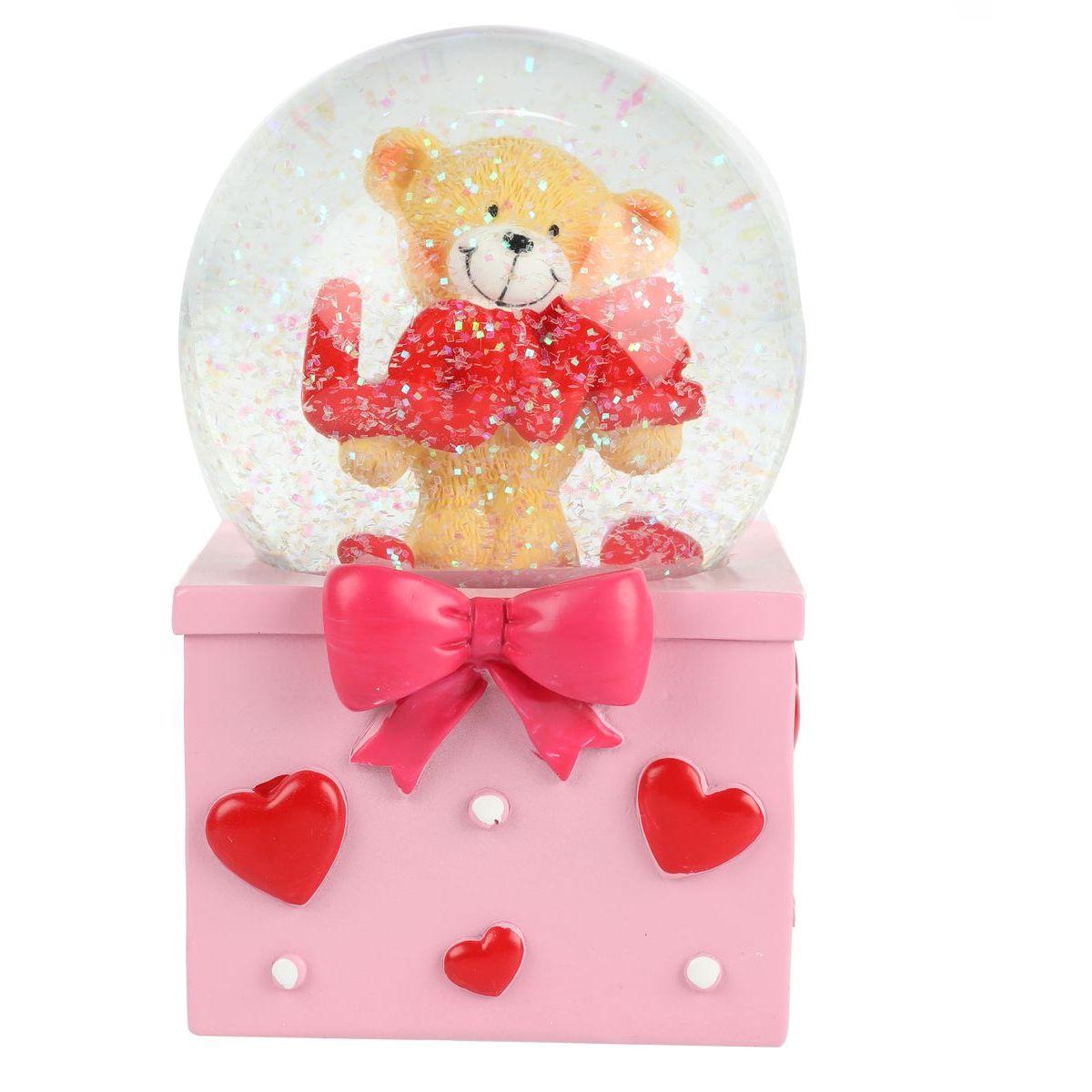 Sněhová koule s medvědem