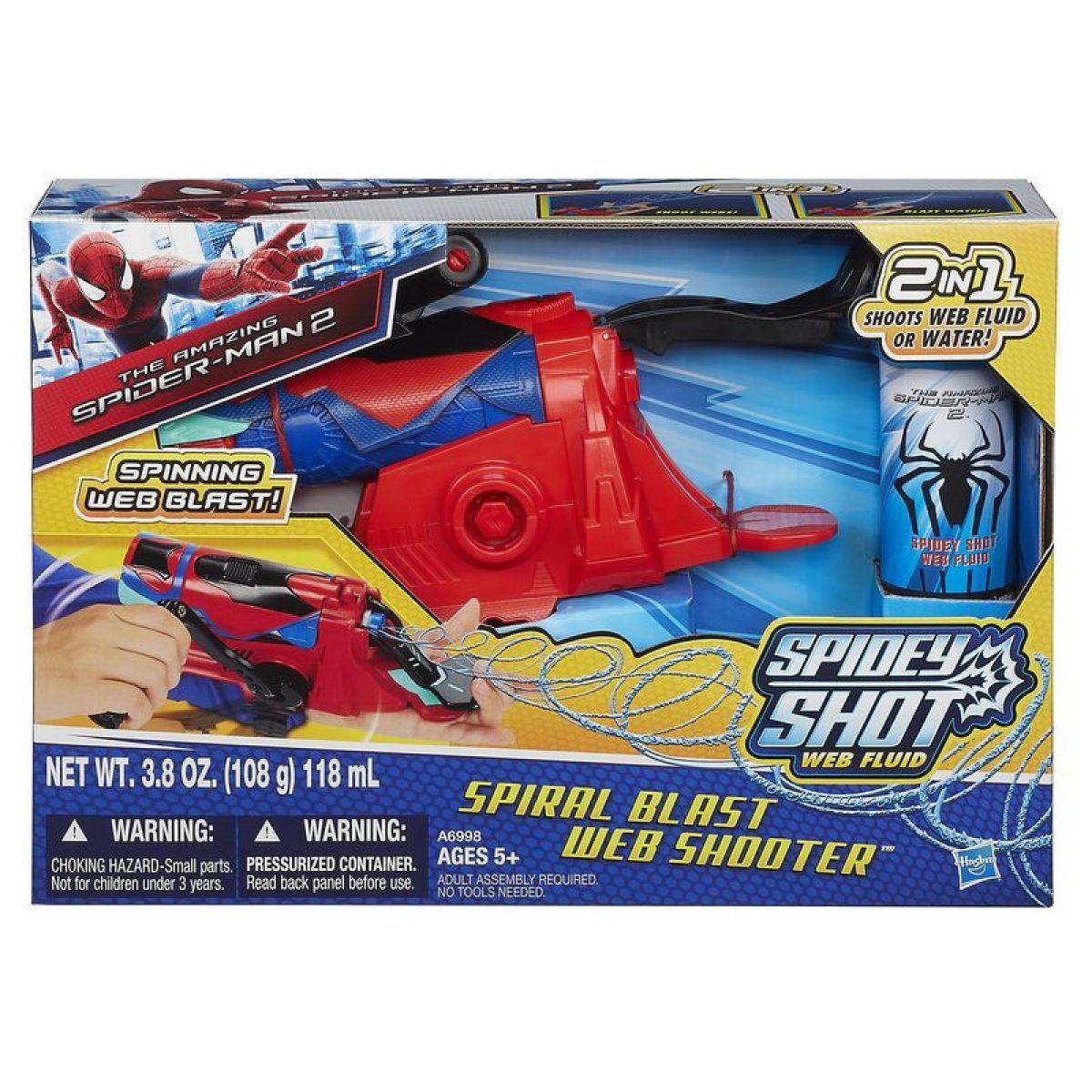Spiderman Spirálový pavučinomet na pavučinu a vodu Hasbro