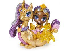 Spin Master Hatchimals pixies panenky se zvířátkem a doplňky zlaté-růžová křídla