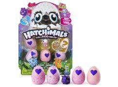 Spin Master Hatchimals sběratelská zvířátka ve vajíčku čtyřbalení s bonusem S2 Fialová kravička