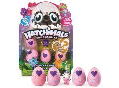 Spin Master Hatchimals sběratelská zvířátka ve vajíčku čtyřbalení s bonusem S2 Fialový dráček