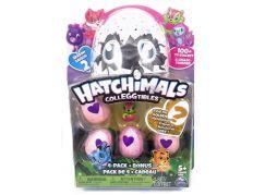 Spin Master Hatchimals sběratelská zvířátka ve vajíčku čtyřbalení s bonusem S2 Pejsek v růžovém košíku