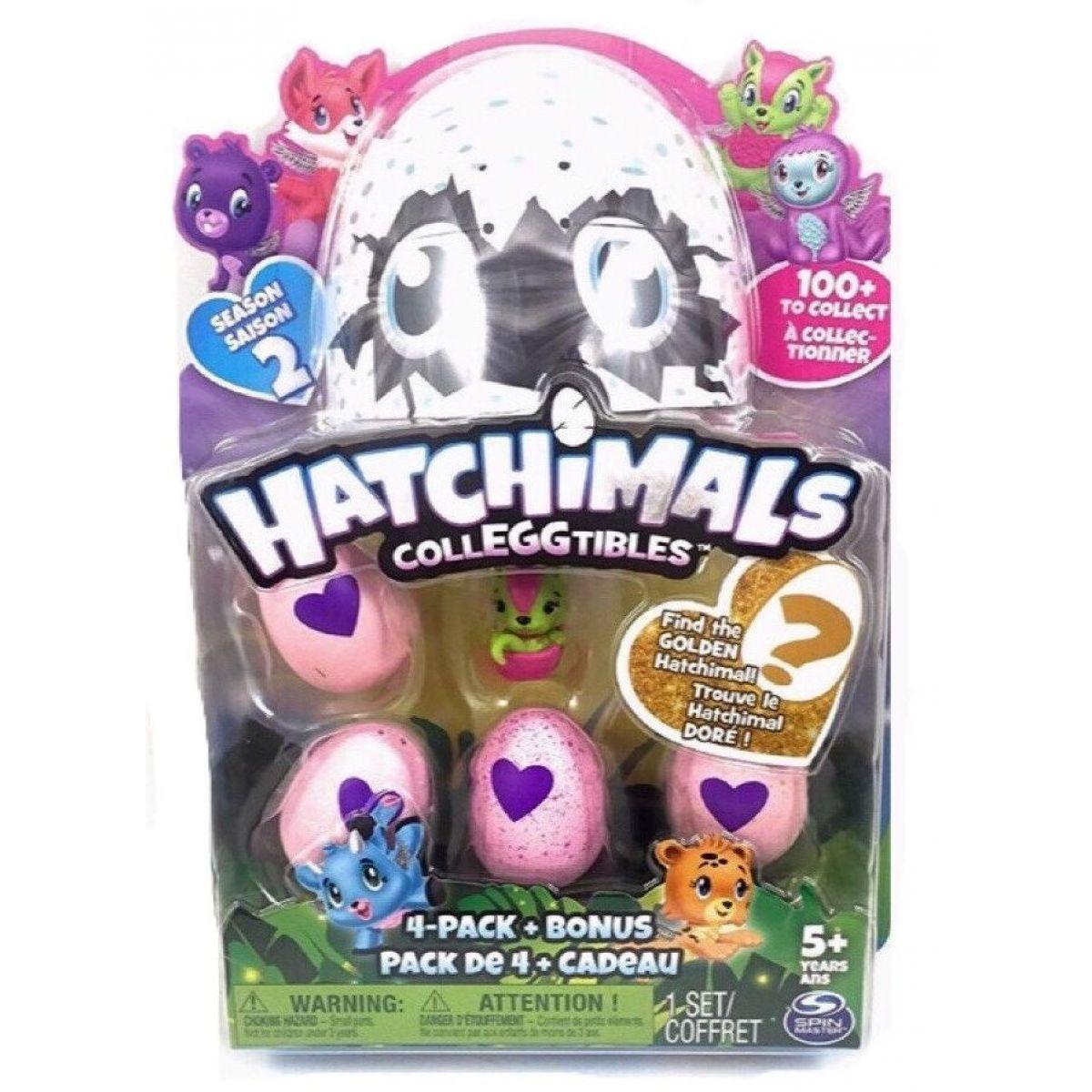 Spin Master Hatchimals sběratelská zvířátka ve vajíčku čtyřbalení s bonusem S2 Růžová myška