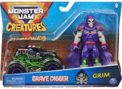 Spin Master Monster Jam kovové auto s figurkou Grave Digger a Grim