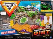 Spin Master Monster Jam sada s tekutým pískem Delux Grave Digger