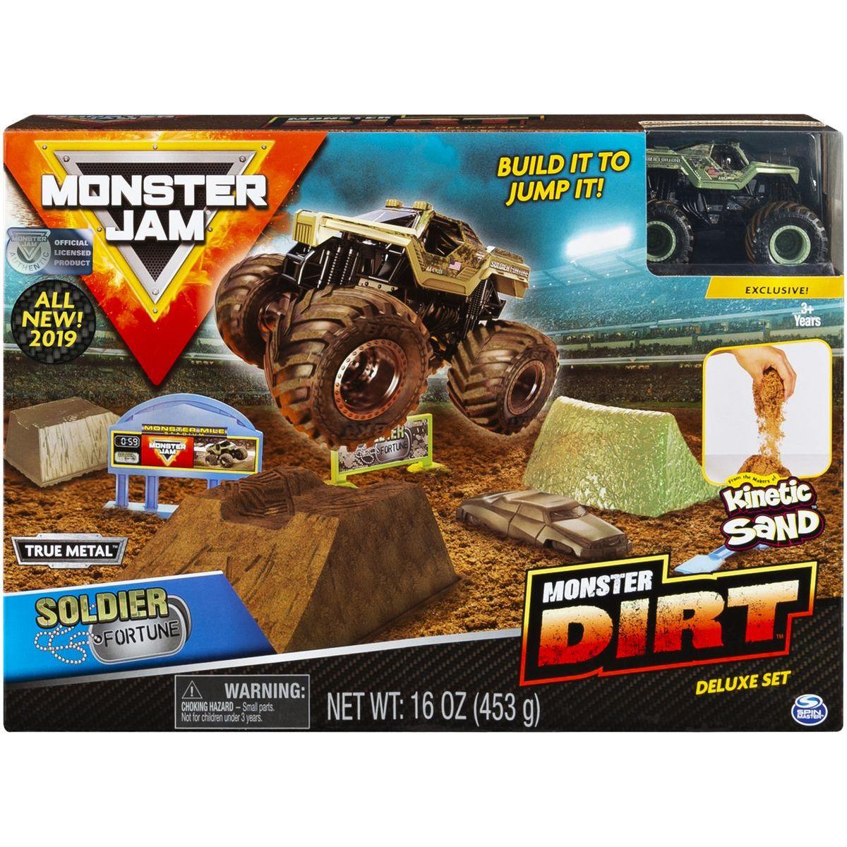 Spin Master Monster Jam sada s tekutým pískem Delux Soldier Fortune