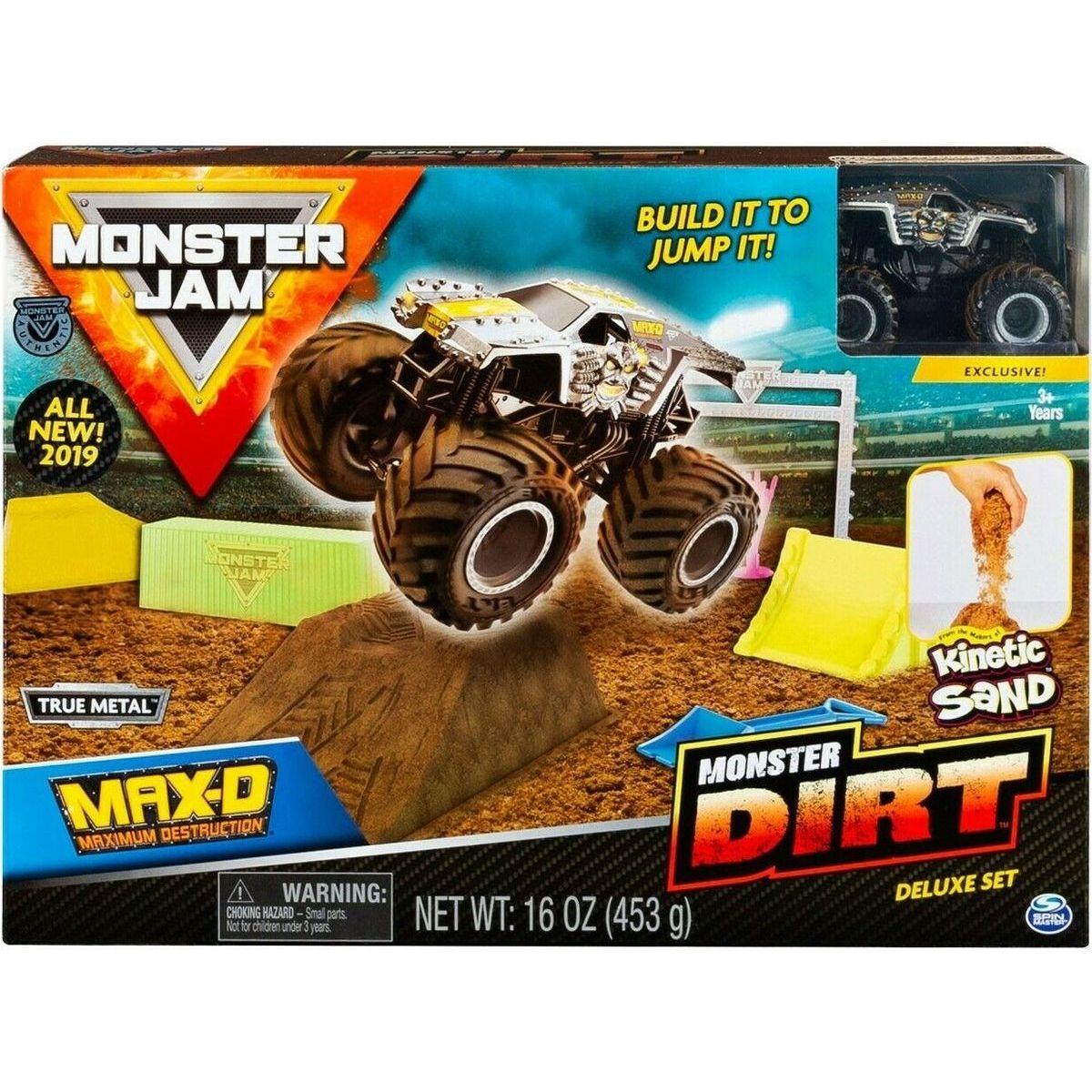 Spin Master Monster Jam sada s tekutým pískem Delux Max - D