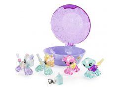 Spin Master Twisty Petz zvířátka a náramky miminka čtyřbalení fialový drahokam
