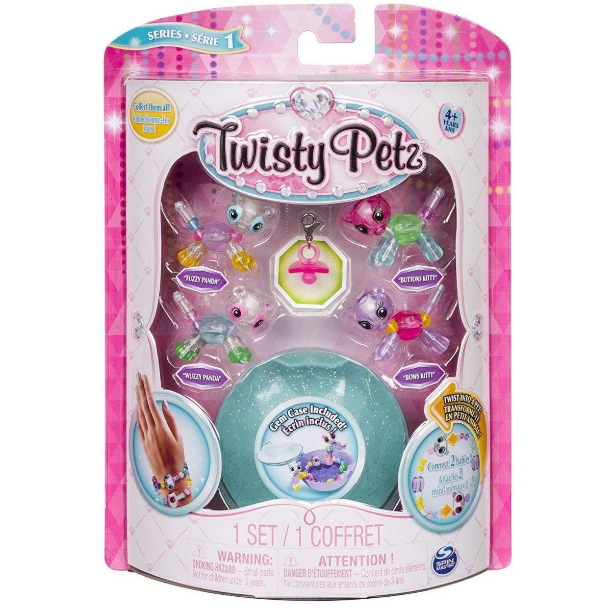 Spin Master Twisty Petz zvířátka a náramky miminka čtyřbalení zelený drahokam #2