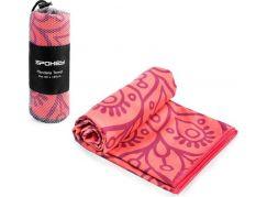 Spokey Mandala Rychleschnoucí sportovní ručník, lososový, 80x160cm