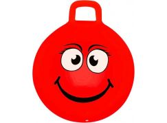 Spokey Nuui Emoti Míč skákací 45 cm červený s úsměvem