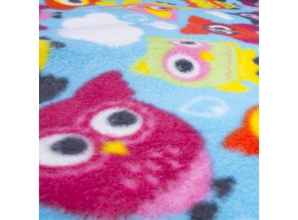 Spokey Picnic Owl Pikniková deka s popruhem 180 x 210 cm