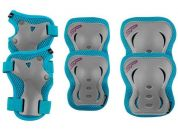 Spokey SHIELD 3-dílná sada dětských chráničů tyrkysové velikost M
