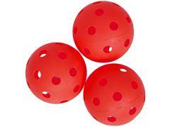 Spokey Turn Florbalové míčky 3 ks červené
