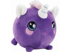 Squeezamals měkké plyšové zvířátko 9 cm Jednorožec fialový
