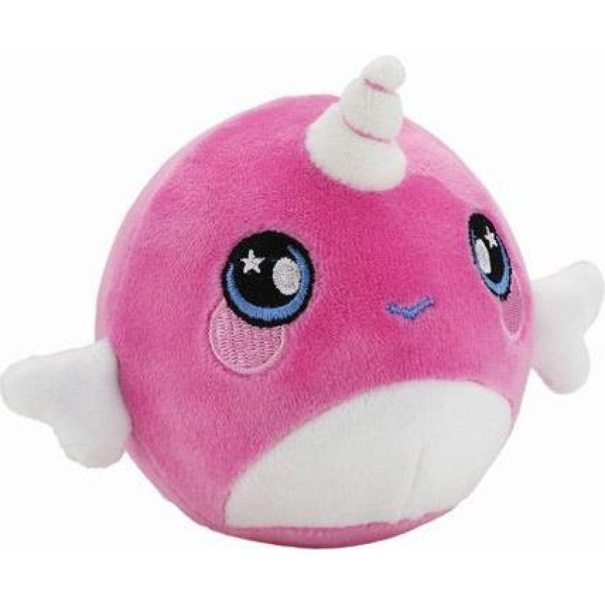 Squeezamals měkké plyšové zvířátko 9 cm Jednorožec růžový