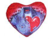 Srdce Valentýn textilní s kuličkovou výplní