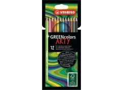 Stabilo Greencolors 12 ks pouzdro řada Arty