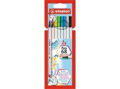 Stabilo Pen 68 brush 8 ks kartonové pouzdro