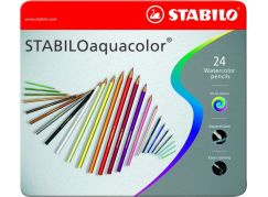 Stabilo Aquacolor 24 ks kovový box