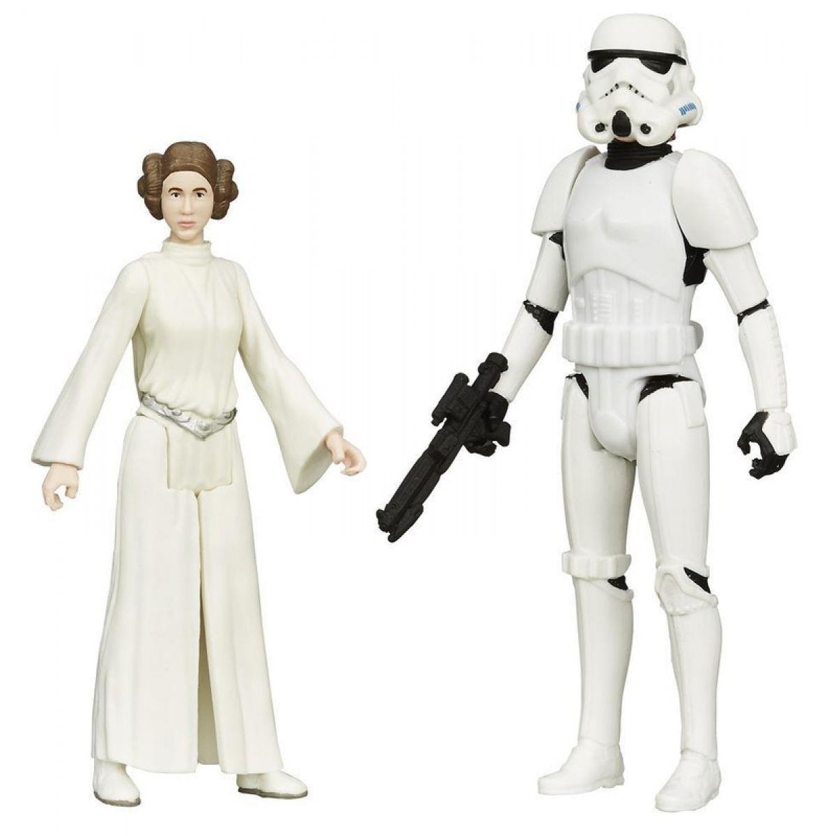 Star Wars akční figurky 2ks Hasbro A5228 - Princess Leia a Luke Skywalker